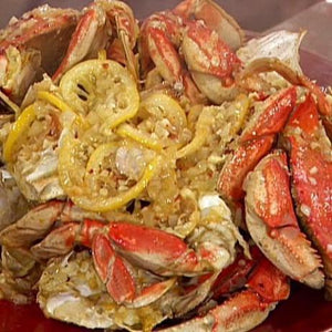 Garlic and Chile Roasted Dungeness Crabs