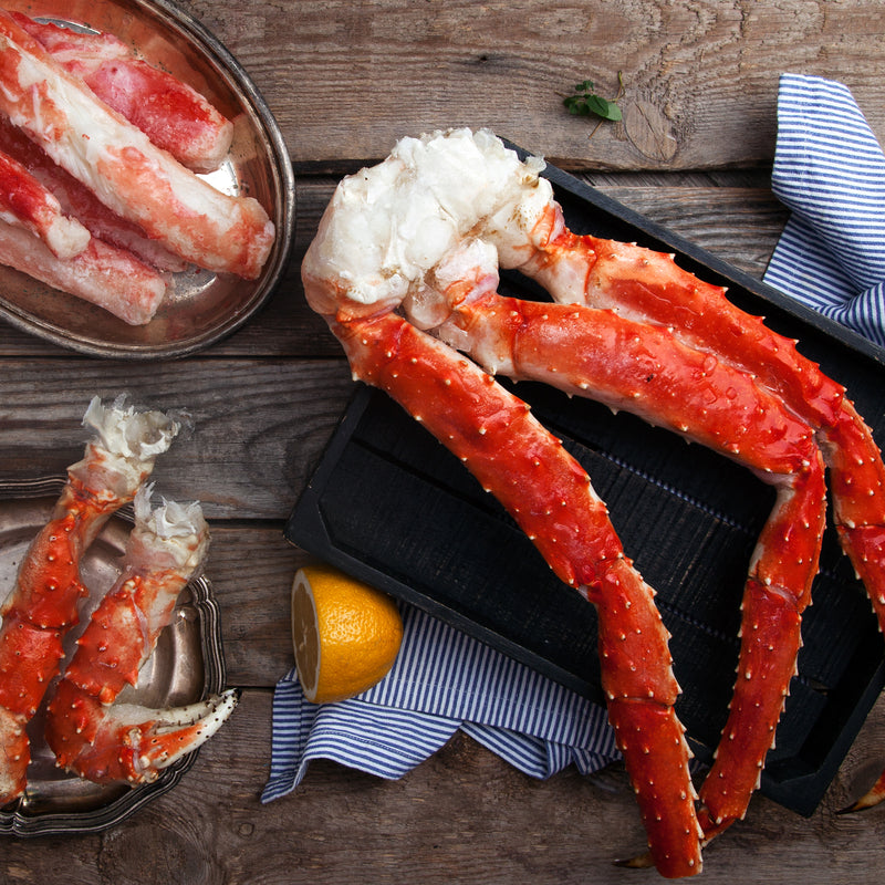 Cook King Crab Legs with Dipping Sauces