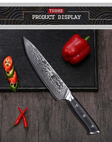 Chef Knife Japanese  Damascus  Ultra Sharp