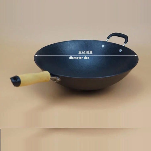 Cast Iron Cooking Wok
