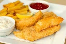 Beer Battered Cod and Onion Rings