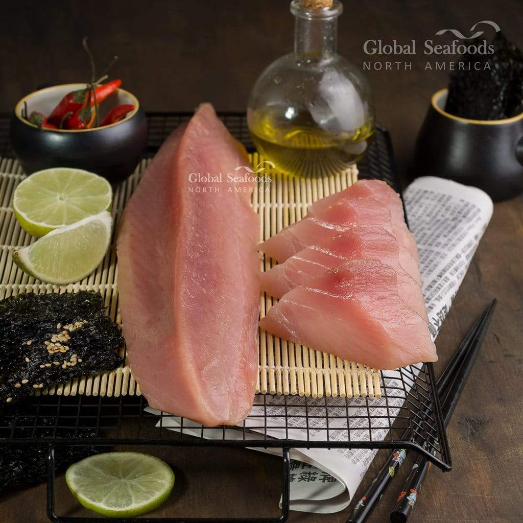 Global Seafoods North America Fish Albacore Tuna Sashimi Grade Loins - 10LBS