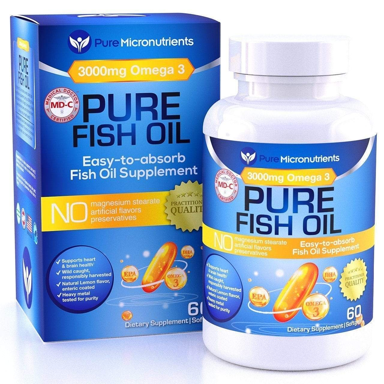 Global Seafoods North America Fish Oil 1 Omega 3 Fish Oil Supplement Triple Strength