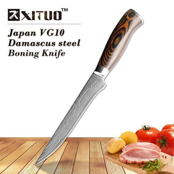 Global Seafoods North America Knife Boning knife Damascus Kitchen Knife