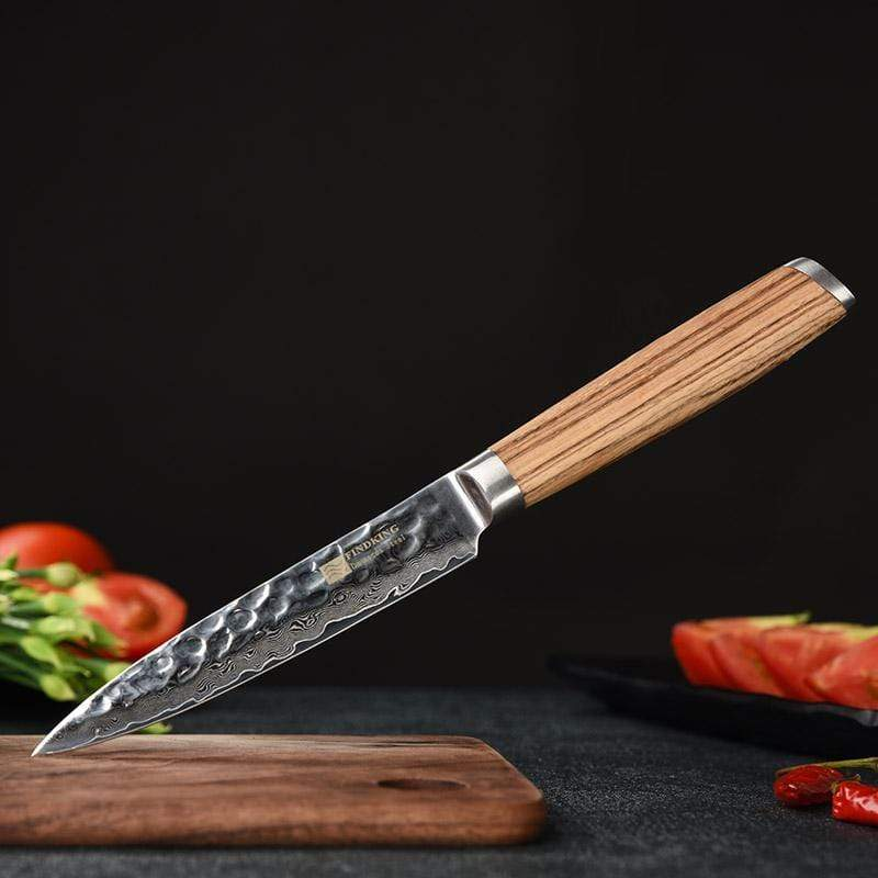 Global Seafoods North America Knife Damascus Steel Kitchen Knife 5""
