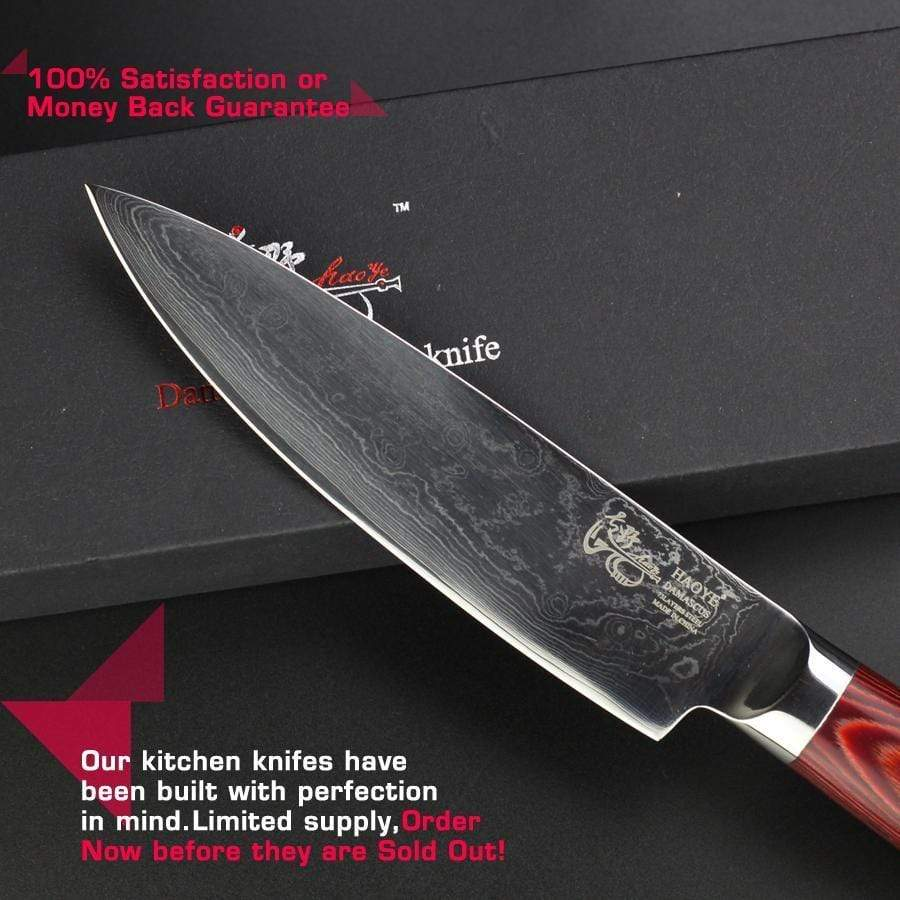 Global Seafoods North America Knife Japanese Damascus Steel Steak Knife