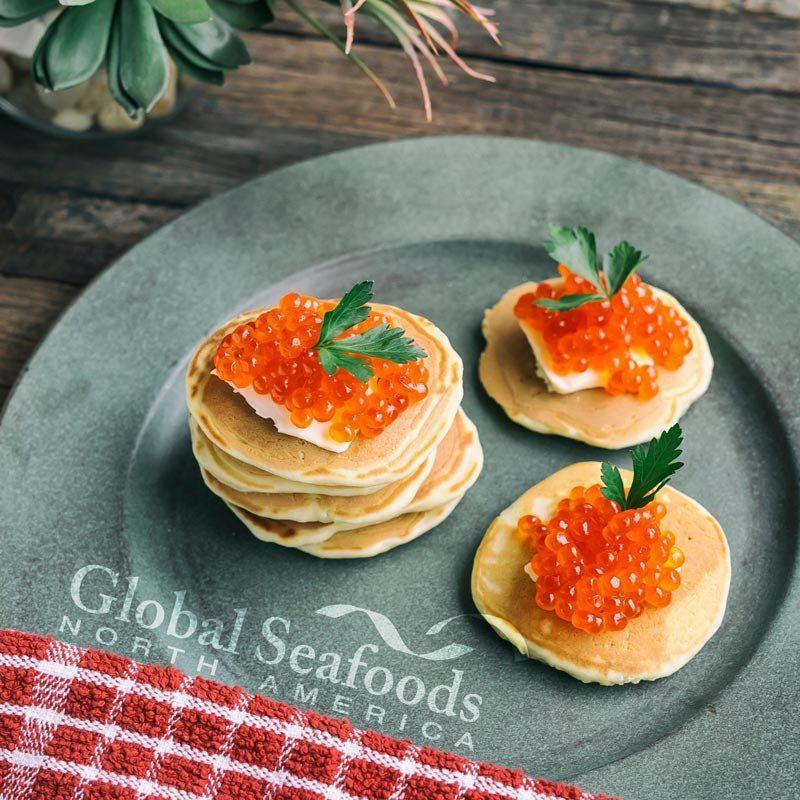 Global Seafoods North America Red Caviar King Salmon Caviar №1 1.1 lbs (0.5 kg) $90 King Salmon Caviar - Grade No1