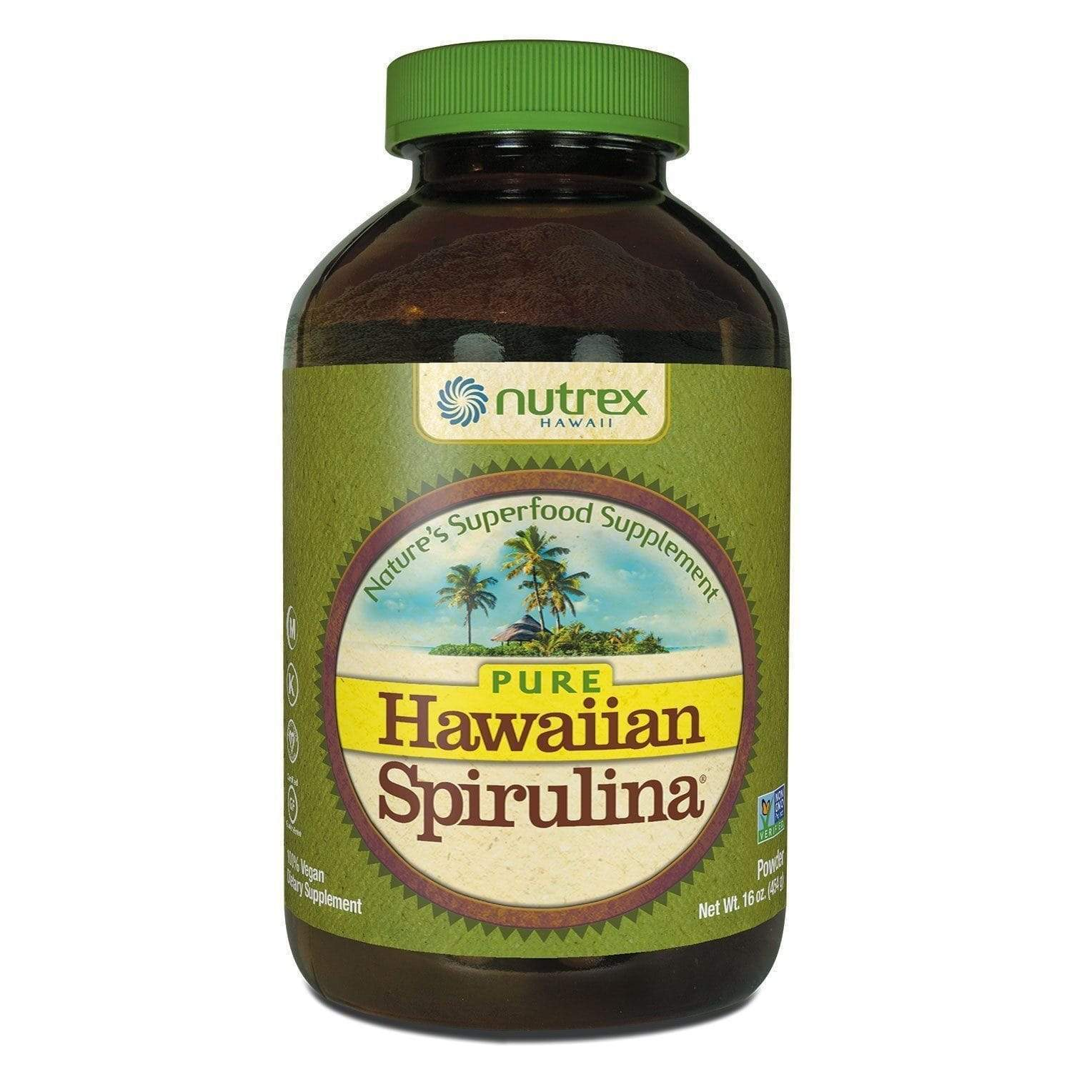Global Seafoods North America Seaweed 16oz powder Pure Hawaiian Spirulina Powder  Grown in Hawaii