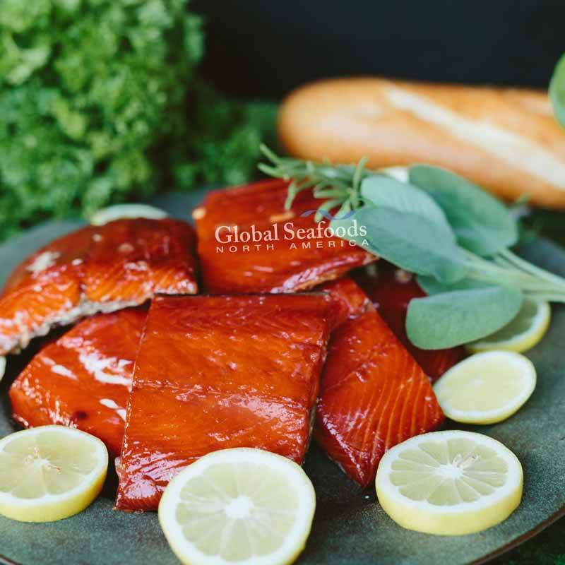 Global Seafoods North America Smoked Salmon Hot Smoked Sockeye Salmon