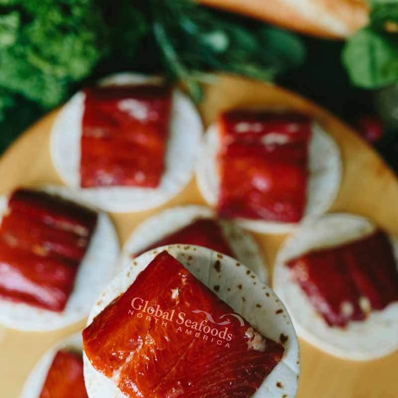 Global Seafoods North America Smoked Salmon Smoked Sockeye Salmon, 1 vacuum pack 2.5 lbs Hot Smoked Sockeye Salmon