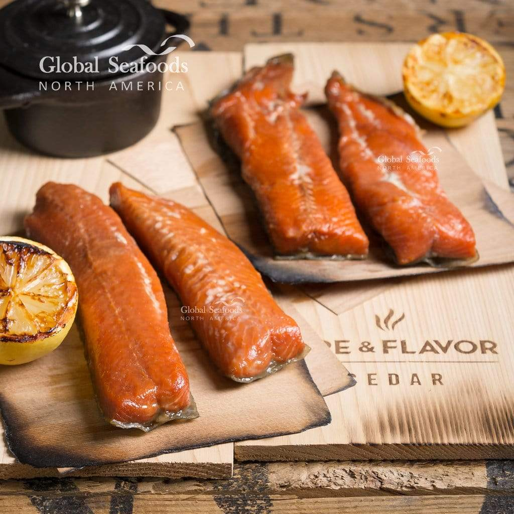 Global Seafoods North America Smoked Salmon Sockeye Salmon Candy - 3lbs Two Packs 1.5 lbs Each Smoked Sockeye Salmon Candy