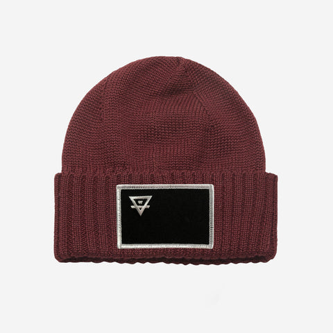 Bound By Blood Alchemy Patch Burgundy Beanie