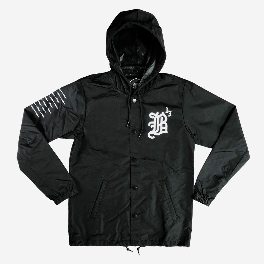 Bound By Blood B13 Unisex Black Hooded Button-Up Jacket