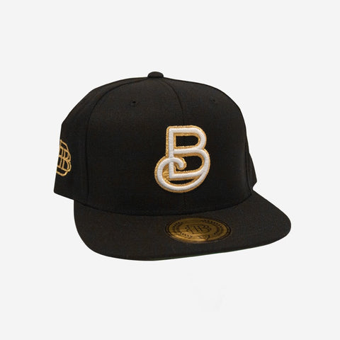 Bound By Blood Baseball Black and Gold Flatbrim Snapback Hat