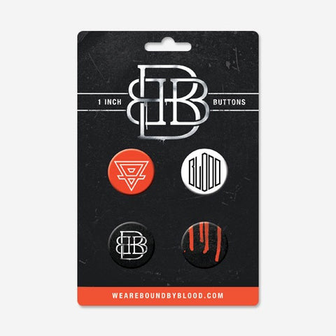 Bound By Blood 1-inch Button Set