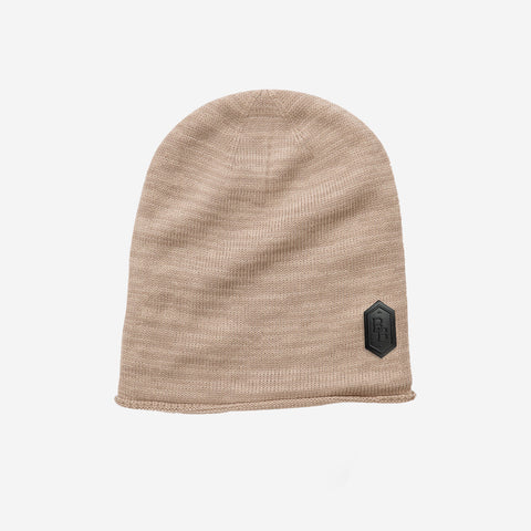Bound By Blood Interlocked Patch Oatmeal Unisex Beanie
