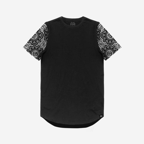 Bound By Blood Lotus Pattern Sleeve Print Premium Unisex Black T-Shirt