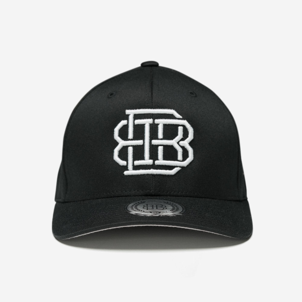 Bound By Blood Monogram Black and White Unisex Flexfit Hat