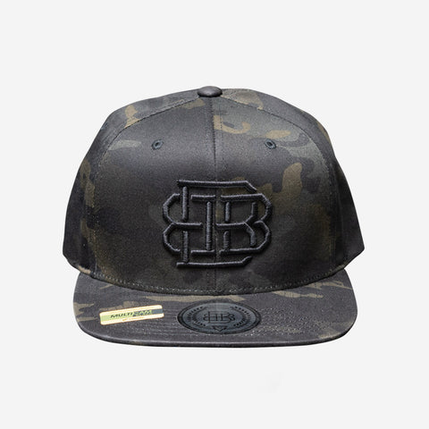 Bound By Blood Monogram Multicam® Black Unisex Flatbirm Snapback Hat