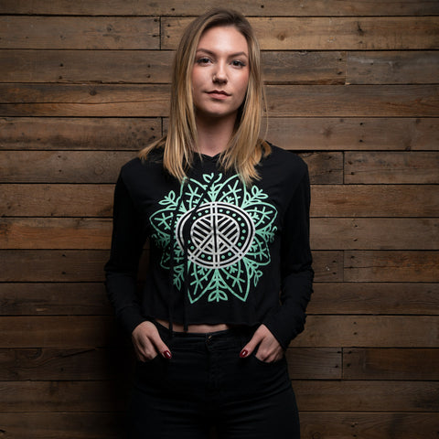 Bound By Blood Nature Lotus Women's Cropped Hoodie