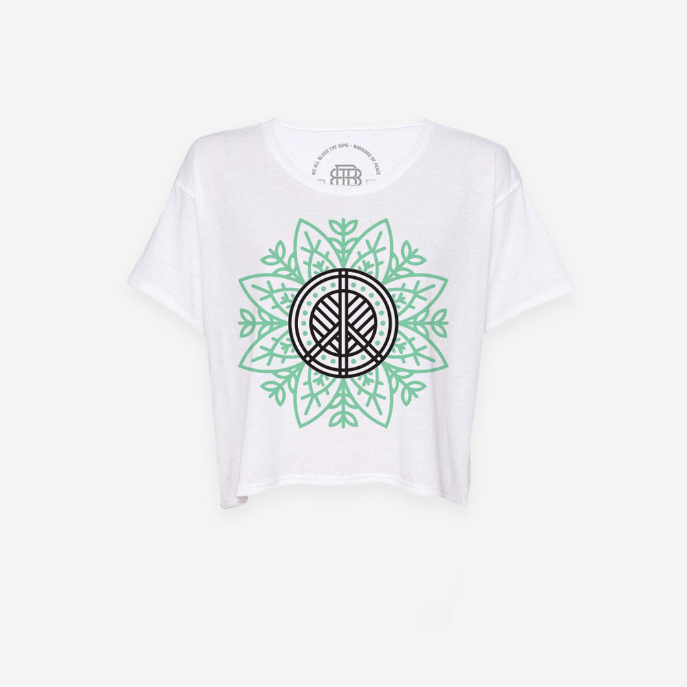 Bound By Blood Nature Lotus Women's White Crop Top