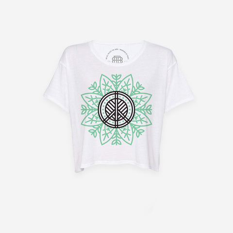 Nature Lotus Cropped T-Shirt
