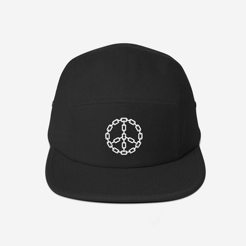 Peace Chain 5-Panel Camper Hat (Black)