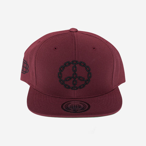 Peace Chain (Burgundy/Black)