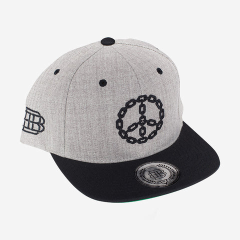 Peace Chain (Heather Grey/Black)