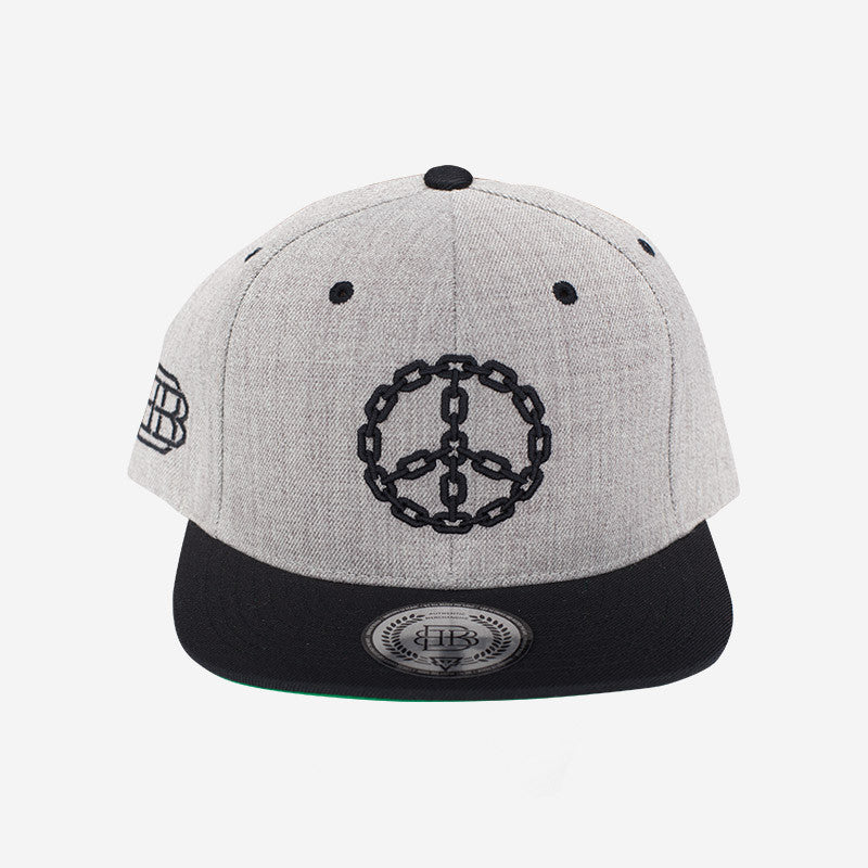 Bound By Blood Peace Chain Heather Grey Flatbrim Snapback Hat