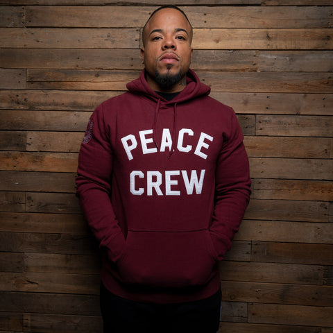 Bound By Blood Peace Crew Limited Edition Burgundy Hoodie