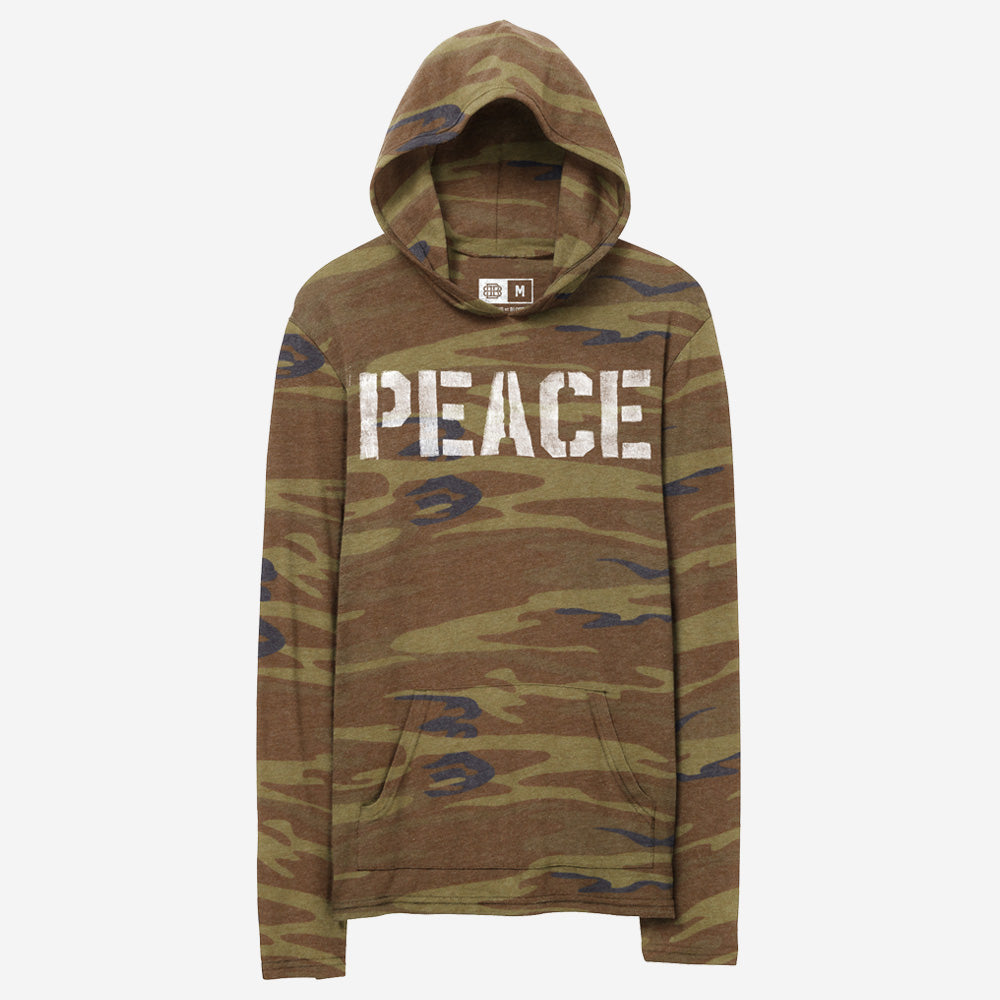 Bound By Blood Peace Stencil Camo Unisex Lightweight Hoodie