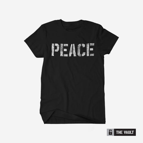 Bound By Blood Peace Stencil Black Unisex T-Shirt
