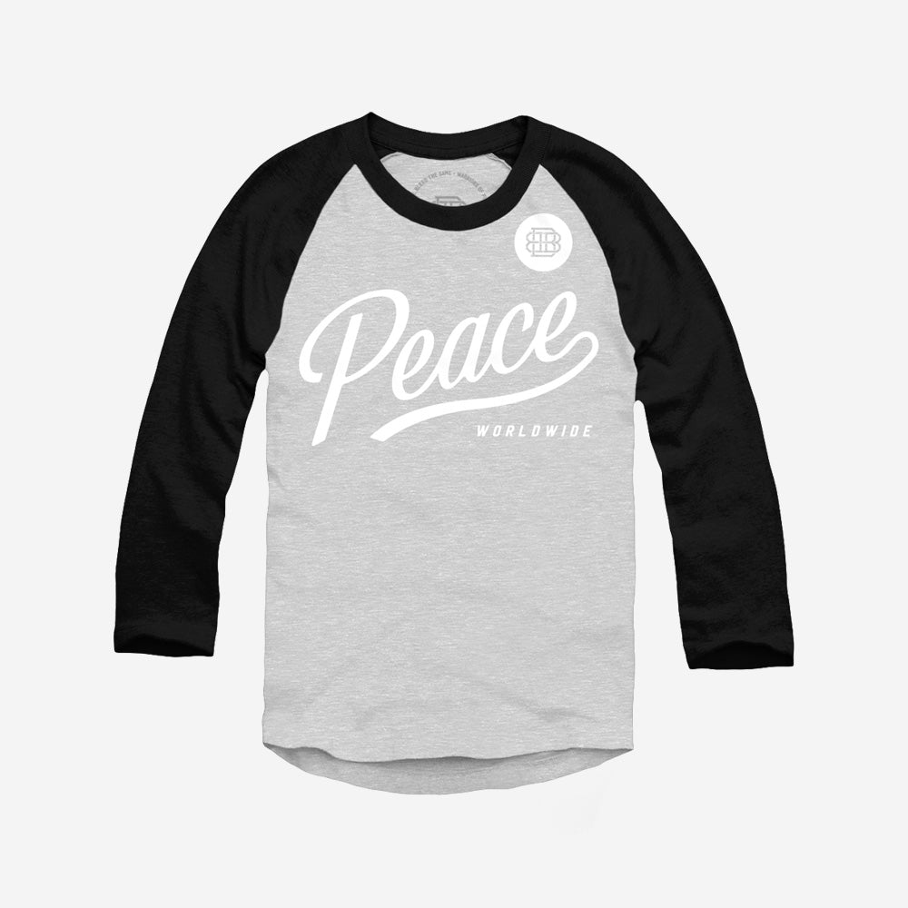 Bound By Blood Peace Worldwide 3/4 Sleeve Baseball Shirt