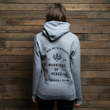 Bound By Blood Rest In Peace Heather Grey Unisex Pullover Hoodie