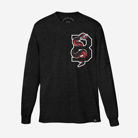 Bound By Blood Serpent Black and Red Unisex Longsleeve T-Shirt