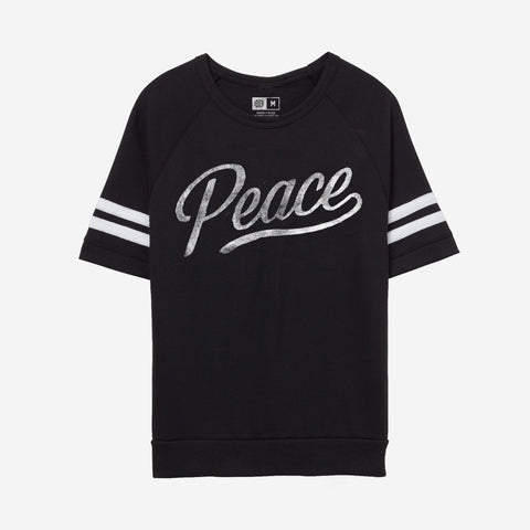 Bound By Blood Team Peace Black Women's Short Sleeve Crewneck