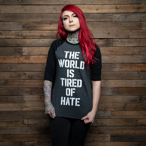Bound By Blood Tired of Hate 3/4 Sleeve Baseball Tee