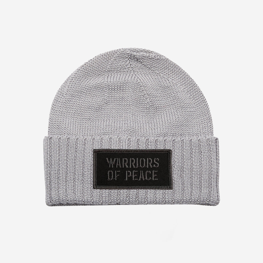 Bound By Blood Warriors of Peace Grey Unisex Ribbed Cuffed Beanie
