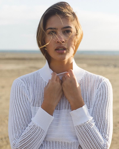 THE LEALLO DUNE PULLOVER WITH HEARTS