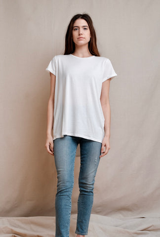 THE ZOEY RIBBED TEE