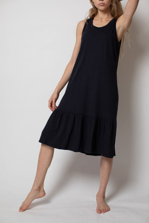 Lucy Tank Dress W Ruffle Hem