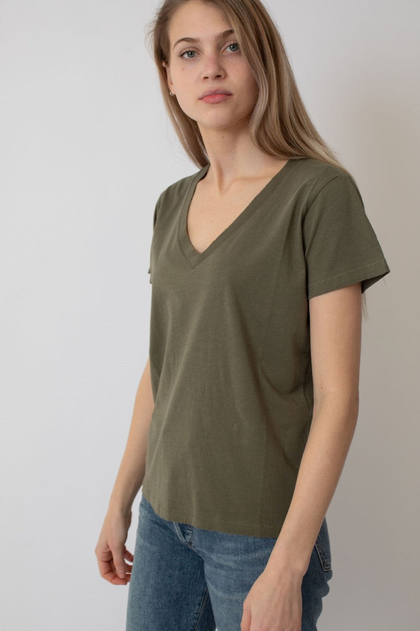 Rosa Distressed V Neck Tee