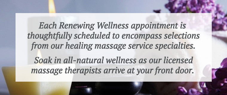 Renewing Wellness Mobile Massage Appointments Pricing in Dallas