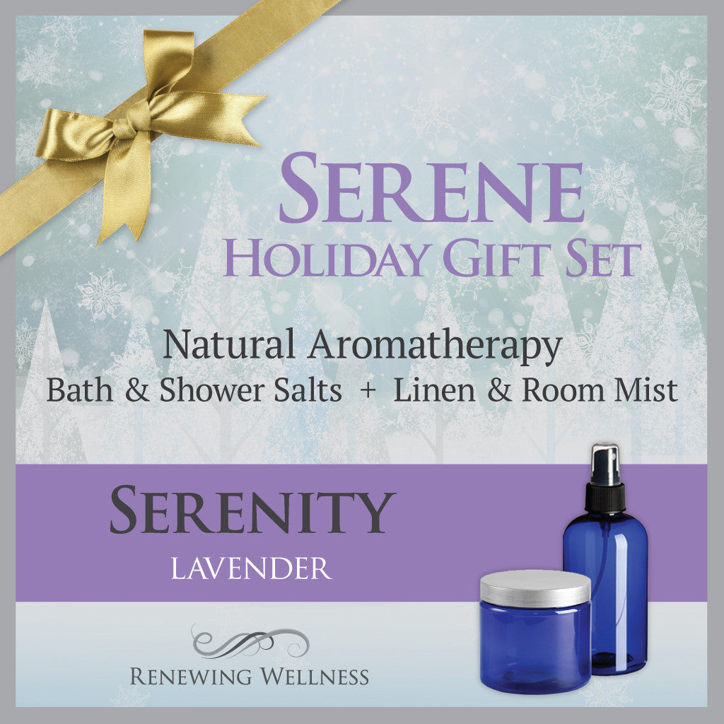 Aromatherapy Lavender Serenity Bath Salts-Linen Room Mist Holiday Gift