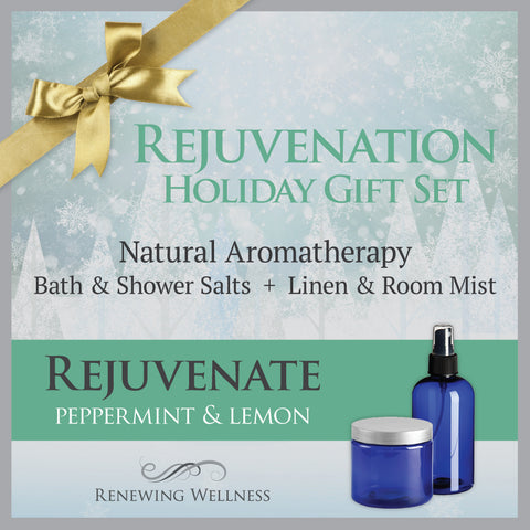 Aromatherapy Peppermint Rejuvenate Bath Salts-Linen Room Mist Holiday Gift