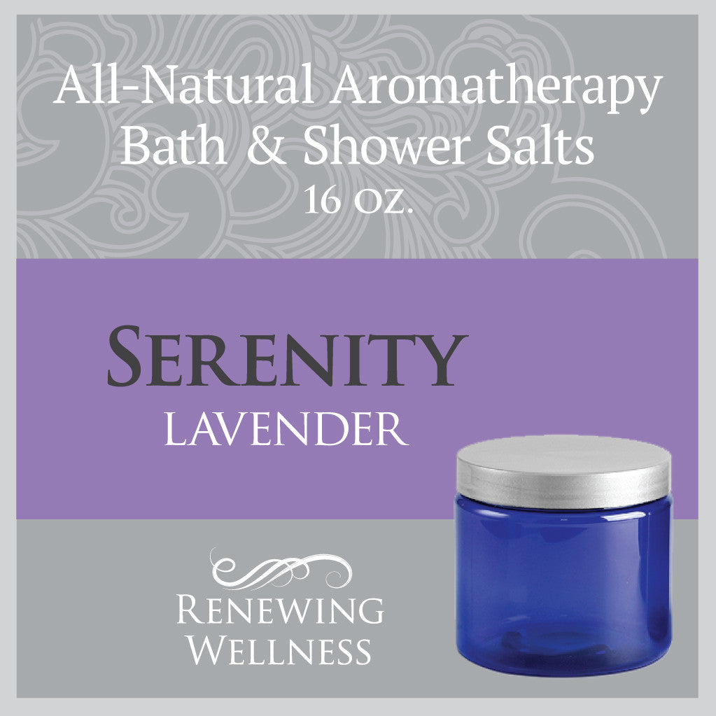 Natural Aromatherapy Bath Shower Salts Lavender Serenity