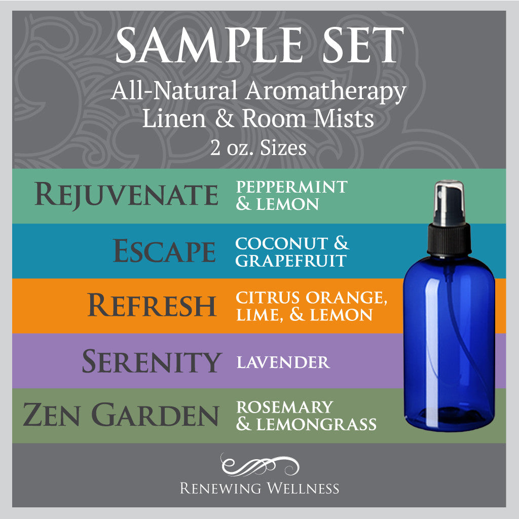 Renewing Wellness Aromatherapy Room Mist Sample Set