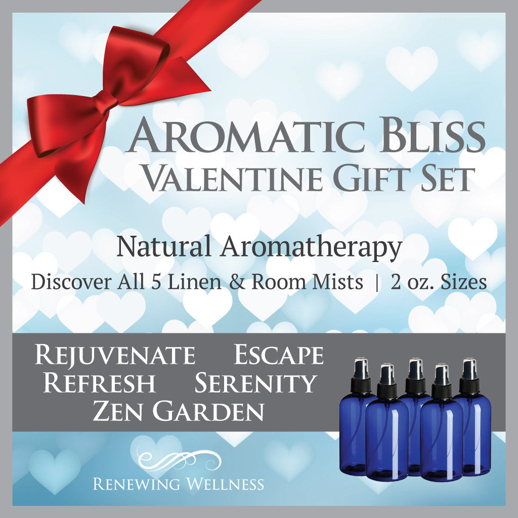 Aromatherapy Essential Oil Linen Room Sprays Valentine Gift Set