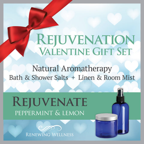Natural Aromatherapy Peppermint Lemon Bath Salts-Linen Room Mist Valentine Gift